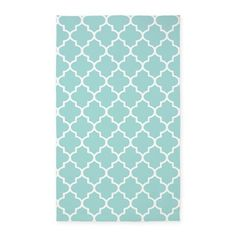 Mint Quatrefoil Pattern 3X5' Area Rug on CafePress.com