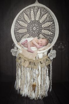 SBurritt Photography Canada Newborn baby dream catcher DIY sleeping baby professional photography composite image