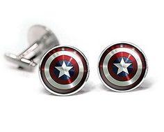 For the groom's inner superhero: Captain America cufflinks, $10 on @amazon