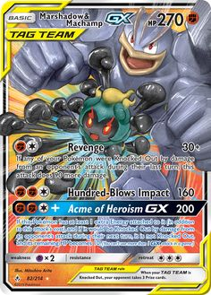 Marshadow & Machamp GX - SM - Unbroken Bonds, Pokemon - Online Gaming Store for Cards, Miniatures, Singles, Packs & Booster Boxes Pokemon Rayquaza, Pokemon Card Memes, All Pokemon Cards, Pokemon Cards Legendary, Pokemon Rules, Pokemon Dragon, Type Pokemon, Pokemon Trading Card, Mega Evolution
