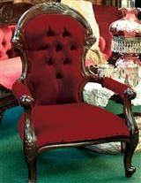 CLASSIC VICTORIAN GRANDFATHER CHAIR