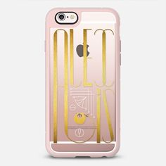 Alexis (Gold Lettering Art Deco) transparent - New Standard Case #Alexis #case  #cover #iphone #phone #iphone6s #accessories #fashion #lettering #gold #artdeco #artnoveau #typography #name #transparent #pink