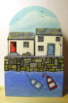 Quayside cottages by jamjarart on Etsy by Joy Williams