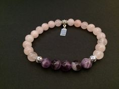 Rose Quartz and Amethyst gemstone bracelet from http://gracefaithandhope.com