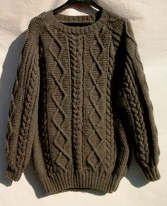 Joli modèle gratuit tricot pull irlandais homme
