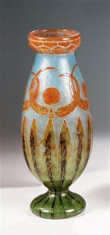 """Vase ''Libellules"""" by Schneider Cristallerie (Co.)"""
