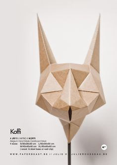 AFRO Collection // Cardboard Trophies & Masks Handmade Design by Julie Rousseau // www.paperbeast.be