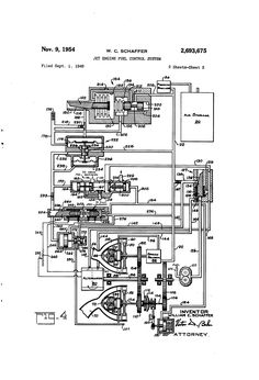 Patent US2693675 - Jet engine fuel control system