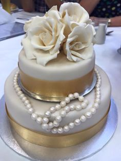 55 year wedding anniversary cake for my mother and father-in law
