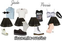 """""""Jade and Perrie inspired outfits w/ requested skirt"""" by littlemix-outfits ❤ liked on Polyvore"""