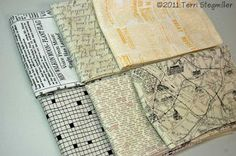 Terri Stegmiller Art Quilts: Fabric with Text: Acquired