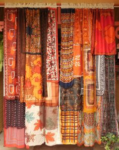 ROOMS ON FIRE Handmade Gypsy Curtains by BabylonSisters on Etsy