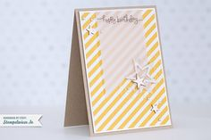 Stampin 'Up!  - Birthday Card - Birthday Card - Stars - Banner ❤ stamp meadow