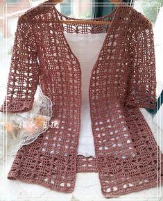 Fabulous Crochet a Little Black Crochet Dress Ideas. Georgeous Crochet a Little Black Crochet Dress Ideas. Black Crochet Dress, Crochet Coat, Crochet Jacket, Crochet Blouse, Filet Crochet, Crochet Shawl, Crochet Clothes, Crochet Vests, Easy Crochet