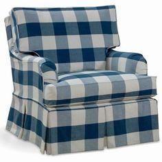 Best Ethan Allen Parker Chair In Black Cream Buffalo Check 640 x 480