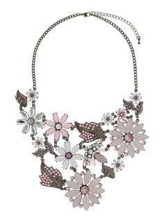 Pale Pink Flower Collar - Jewelry - Accessories - Miss Selfridge US