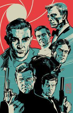 Bonds... James Bonds by Aurelio Lorenzo