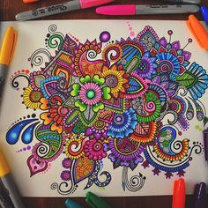 Take a look at mandalas в 2019 г. doodle art, mandala art и art drawings. Dibujos Zentangle Art, Zentangle Drawings, Mandala Drawing, Zentangle Patterns, Art Drawings, Zentangles, Pencil Drawings, Sharpie Drawings, Sharpie Art
