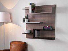 20 Beautiful Shelves and Storage Design Ideas For Your Comfortable Home Library Shelves, Wall Bookshelves, Wood Shelves, Book Racks, Modern Lounge, Storage Design, Cuisines Design, Wood Design, Home Kitchens