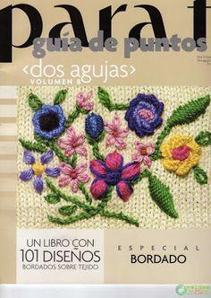 Patrones Crochet: Guia de Puntos Bordados en Tejido Crochet
