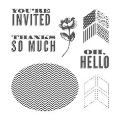 Oh, Hello Clear-Mount Stamp Set - Stampin' Up!