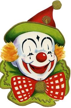 Clown clipart circus joker in vintage circus clown clipart collection - ClipartXtras Circus Clown, Circus Theme, Circus Party, Cute Clown, Creepy Clown, Clown Mignon, Tableau Pop Art, Clown Paintings, Pierrot Clown