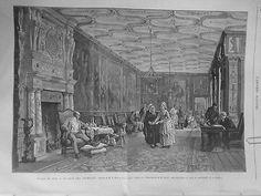 1873 Ui 9/8 Salon Tableau Berne Bellecour Jour Fermages Levriers Cheminee Lustre
