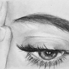 - - - - - - # canvas art - – – – – – – # Drawing on the canvas # canvas drawings - Art Drawings Sketches Simple, Pencil Art Drawings, Realistic Drawings, Portrait Sketches, Drawing Portraits, Face Drawings, Drawing Eyes, Eye Sketch, Sketch Drawing