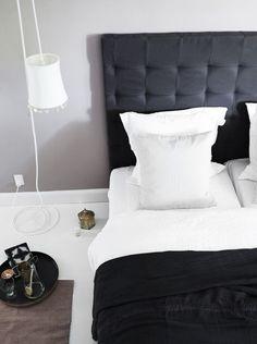 Sengegavl fra Tine K Home, White Bedroom, Modern Bedroom, Modern Furniture, Home Furniture, Teen Girl Bedding, Cozy Bed, Home Collections, Bed Pillows, House Design