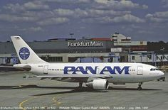 Pan Am Airbus A310-324 National Airlines, Pan Am, Come Fly With Me, Commercial Aircraft, Golden Rule, Airports, Frankfurt, Airplanes, Transportation