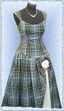 Laxey Manx Tartan dress, from the Isle of Man