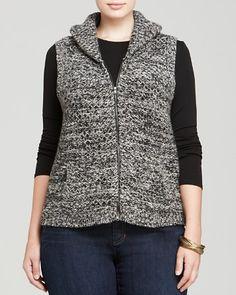 Eileen Fisher Plus Shawl Collar Vest   Bloomingdale's
