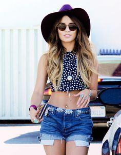Vanessa Hudgens - perfect festival outfit