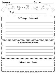 3-2-1 formative assessment teaching