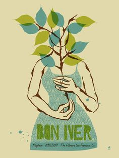 Bon Iver Concert Poster by Methane Studios SOLD OUT