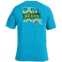 Image One Women's Southeastern Louisiana University Pattern Scroll State T-shirt (Blue Medium 04, Size Small) - NCAA Licensed Product, NCAA Women's...