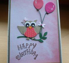 Geburtstagskarte Eule von Wollzottel auf DaWanda.com
