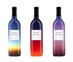 空の色。すてき。 Colorful beautiful gradient wine packaging
