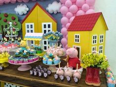 decoração infantil 3rd Birthday Parties, 2nd Birthday, Peppa Big, Aniversario Peppa Pig, Pig Candy, Birthdays, Cake Ideas, Beans, Party Ideas