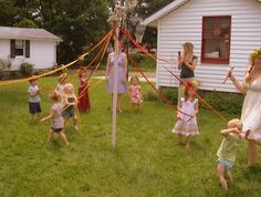 May pole. Waldorf learning approach.- we had our first one this year, so special for the kids.