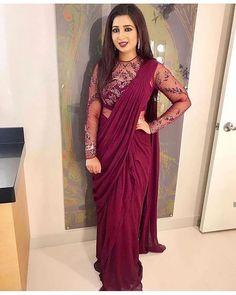 Saree Gown, Sari Dress, Saree Blouse, Lehenga Saree, Saree Designs Party Wear, Party Wear Sarees, Sarees For Girls, Blouse Designs Silk, Blouse Patterns