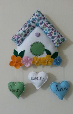 Kids Crafts, Hobbies And Crafts, Felt Crafts, Diy And Crafts, Mobiles For Kids, Sewing Crafts, Sewing Projects, Felt Animal Patterns, Felt Decorations