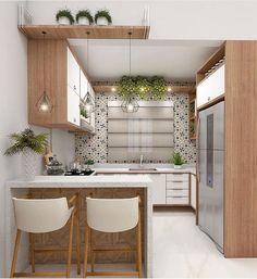 46 Wonderful Modern And Sophisticated Kitchen Design Ideas Kitchen Room Design, Home Room Design, Kitchen Cabinet Design, Modern Kitchen Design, Home Decor Kitchen, Interior Design Kitchen, Kitchen Furniture, Home Kitchens, Kitchen Ideas