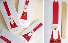 Popsicle Santa Claus Christmas card