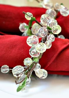 materials needed and step by step instructions for making beaded napkin rings #SheKnows