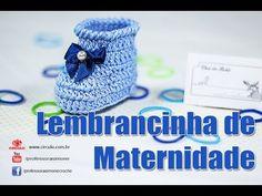 Lembrancinha Maternidade Botinha em Crochê - Professora Simone - YouTube