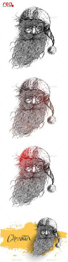 #Santa Claus Face Sketch