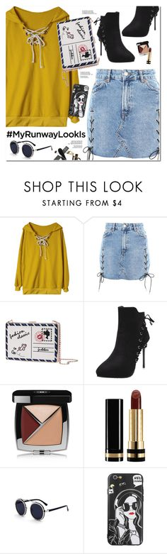 """""""NYFW After Parties"""" by oshint ❤ liked on Polyvore featuring Topshop, Chanel and Gucci"""