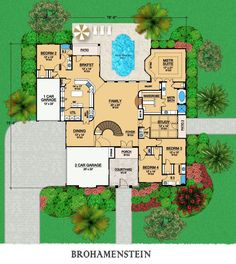 First Floor image of Featured House Plan: BHG - 9073