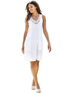 87731215b0d1b6 Дамска рокля HEINE - бял. Koketna